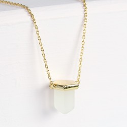 Orelia Mini Crystal Shard Necklace