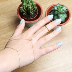 Orelia Gold Layered Hand Harness
