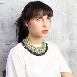 Statement Beaded Fringe Necklace