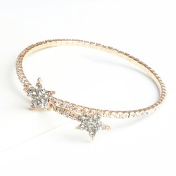 Diamanté Wrap Bangle in Rose Gold