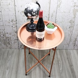 Round Copper Coffee Table