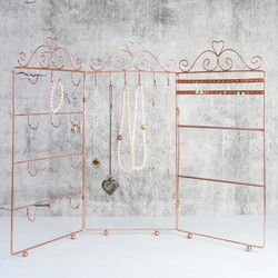 Triple Jewellery Stand in Copper