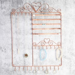 Wall Jewellery Display in Copper