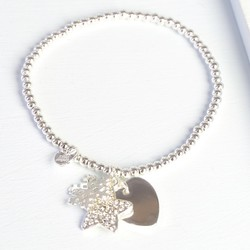 Winter Wishes Bracelet with Silver Snowflake Charm
