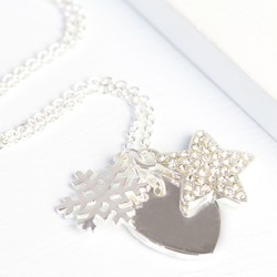 Winter Wishes Necklace with Silver Snowflake Charm