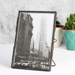"Personalised Temerity Jones Retro Glass Photo Frame - 4"" x 6"""