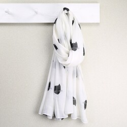 Black & White Cat Face Scarf