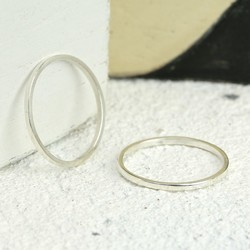 Sterling Silver Skinny Midi Ring