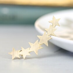 Large Shooting Star Gold Ear Cuff