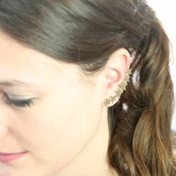 Single Gold Shooting Star Ear Cuff