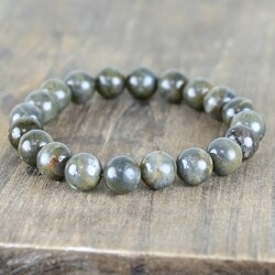 Handmade Men's Dark Labradorite Beaded Bracelet
