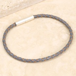 Estella Bartlett Grey Leather Magnetic Bracelet