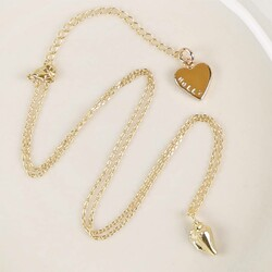 Personalised Seashell Necklace in Gold