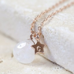 Personalised 'The Moon and Stars' Rose Gold Necklace