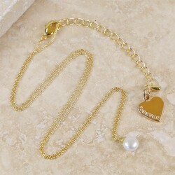 Personalised Dainty Pearl Necklace in Gold