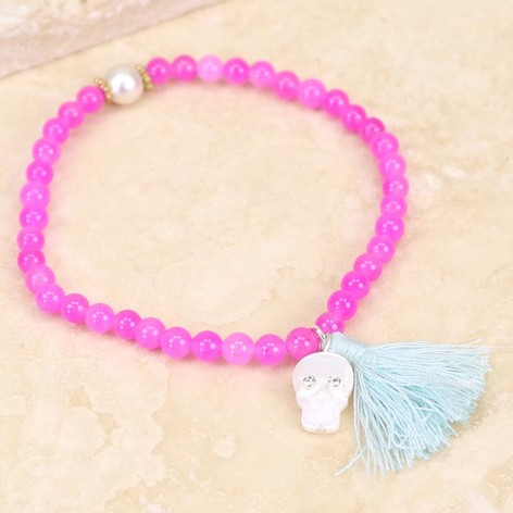 Alice Girls Pink Tassel Bracelet