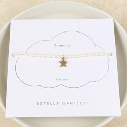 Estella Bartlett 'Lottie' Pearl Bracelet with Gold Star Charm