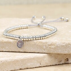 Personalised Delicate Links Bracelet with Oval Charm