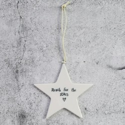 East of India 'Reach For The Stars' Hanging Decoration