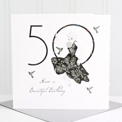 Five Dollar Shake 50th 'Have a Beautiful Birthday' Card