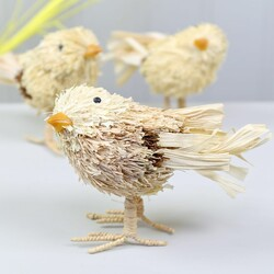 Natural Bristle Chick Easter Ornament