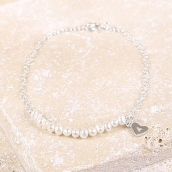 Delicate Freshwater Pearl & Sterling Silver Bridesmaid Bracelet