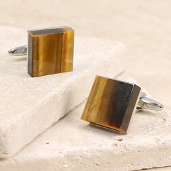 Men's Tiger's Eye Cufflinks