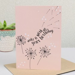 'Make A Wish It's Your Birthday' Card
