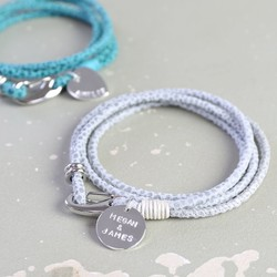 Personalised Suede Double Wrap Bracelet