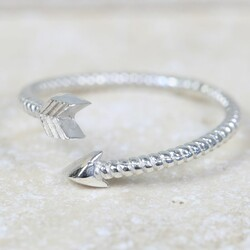 Sterling Silver Wrapped Arrow Ring