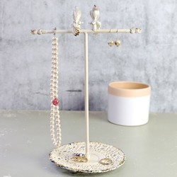 Cream Boudoir Bird Jewellery Stand