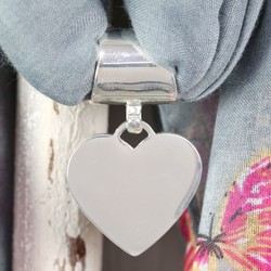 Silver Heart Scarf Ring