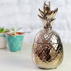 Temerity Jones Metallic Gold Pineapple Trinket Pot