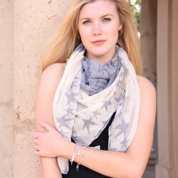 Starry Nights Scarf In Cream