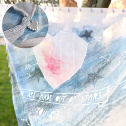 'We are Made Out of Stars You & I' Constellation Heart Scarf
