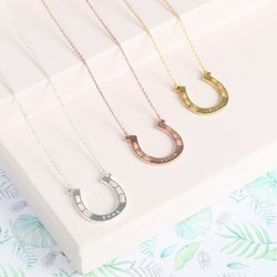 Personalised Horseshoe Necklace