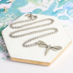 Danon Silver Dragonfly Necklace