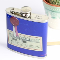 Personalised Apothecary Love Tonic Hip Flask