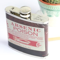Personalised Disaster Designs Apothecary Arsenic Hip Flask