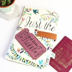 Personalised Disaster Designs 'In a Nutshell' Travel Wallet with Heart Charm