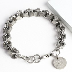 Men's Personalised Iron Nut Bracelet