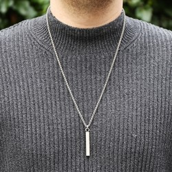 Men's Metal Bar Necklace
