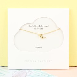 Personalised Estella Bartlett Gold Dinosaur Necklace