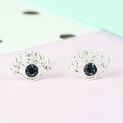 Silver Eye Stud Earrings