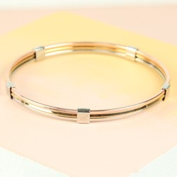 Mixed Metal Layered Bangle