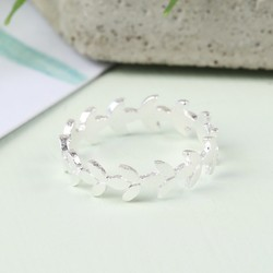 Delicate Silver Leaf Ring
