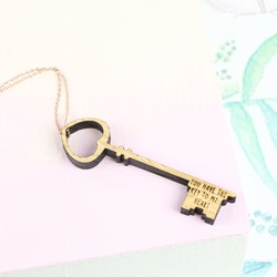 Personalised Wooden Heart Key Necklace
