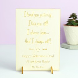 Engraved Quote Wooden Card