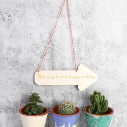 Personalised Hanging Arrow Decoration