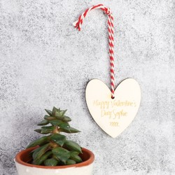 Wooden Heart Gift Tag